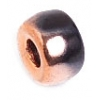 Glass Crow Bead 9mm Copper